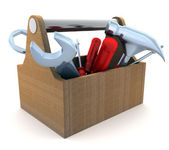 Tools and box — Stock Photo
