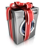 Washer with ribbon — Stock Photo