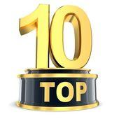 Top 10 award — Stock Photo