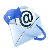 Email blue symbol — Stock Photo