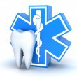 Tooth and star of life - Stock Photo
