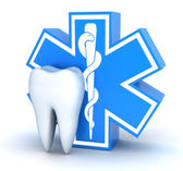 Tooth and star of life — Stock Photo