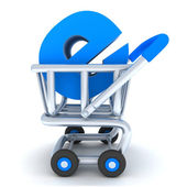 Cart and e-shop — Stock Photo