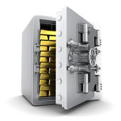 Safe and gold — Stock Photo