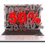 Laptop 50% — Stock Photo #2465540