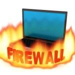 Laptop firewall — Stock Photo #2480938