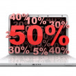 Laptop 50 — Stock Photo