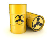 Barrel and the sign chemical weapons — Stock Photo