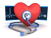 Abstract heart and stethoscope — Stock Photo