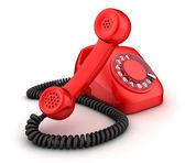 Telephone red — Stock Photo