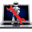 Robot support — Stock Photo