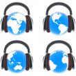 Earth music. Front view — Stock Photo