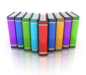 Wiersz książek — Zdjęcie stockowe