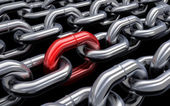 Chain red — Stock Photo