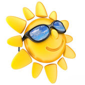 Sun and glasses — Stock Photo