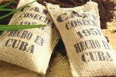 Cuban coffee sacks — Stock Photo