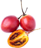 Tamarillos, completely isolated on whit — Stok fotoğraf