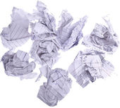 Paperballs, completely isolated on whit — Stock Photo