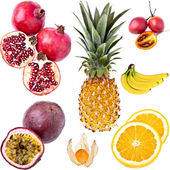 Exotic Fruits, completely isolate — Stock Photo