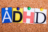 ADHD , abbreviation for Attention Deficit Hyperactivity Disorder — Stock Photo