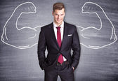 Strong Businessman — Stock Photo