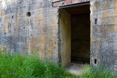 Door of WW2 bunker — Stock Photo