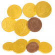 Chocolate coins - Stock Photo