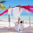 Wedding ceremony on the beach — Stock Photo #19587121