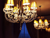 Chandelier in interior — Stock Photo