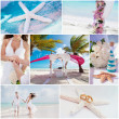 Wedding ceremony when on the beach, collage — Stockfoto
