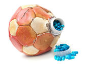 Football doping — Stock Photo