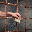 Prison corruption — Stock Photo