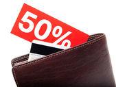 Discount wallet — Stock Photo