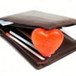 Stock Photo: Wallet romance
