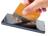 мобильный платеж — Стоковое фото
