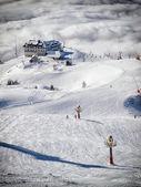 Krvavec skiing — Stock Photo