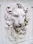 Lion's head sculpture — Stock Photo