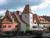 Old building with red roof in Cesky Krumlov — Stock Photo