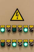 Closeup of electrical board — Stock Photo