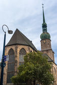 Evening view on church in Dortmund — Stock Photo