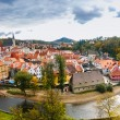 Stock Photo: View on red roofs in Cesky Krumlov