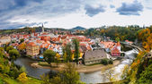 View on red roofs in Cesky Krumlov — Stock Photo