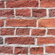 Closeup of old red bricks wall — Stock Photo