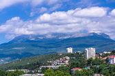 View on the city Alushta — Stock Photo