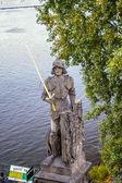 Statue on the Charles Bridge in Prague — Stock Photo