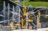 View on Great Cascade Fountain in Peterhof, Russia — Stock Photo