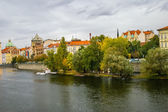 View on embankment in Prague — Stock Photo