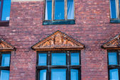 Closeup of old building in Vyborg — Stock Photo