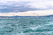 View on Bosphorus Strait and Bridge — Stock Photo
