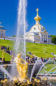 Samson Fountain in Peterhof, Russia — Stock Photo
